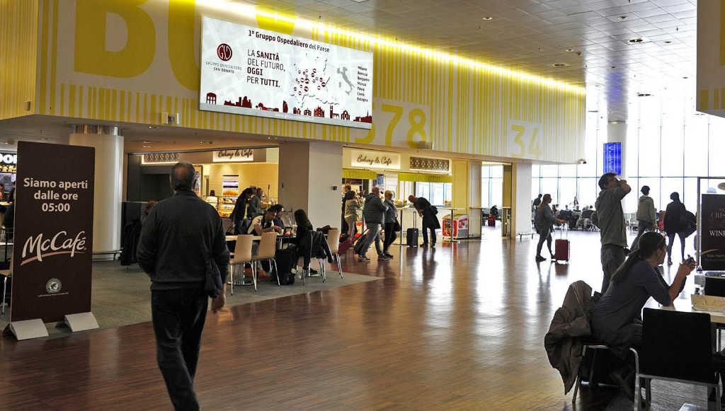 Pubblicità aeroporto Orio al Serio Bergamo