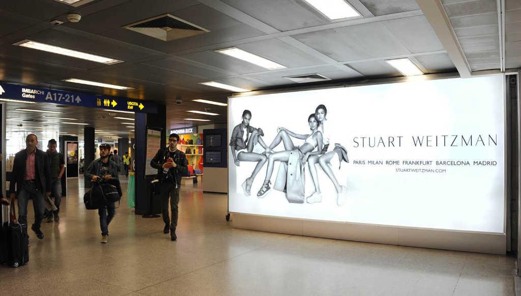 pubblicità aeroporto linate